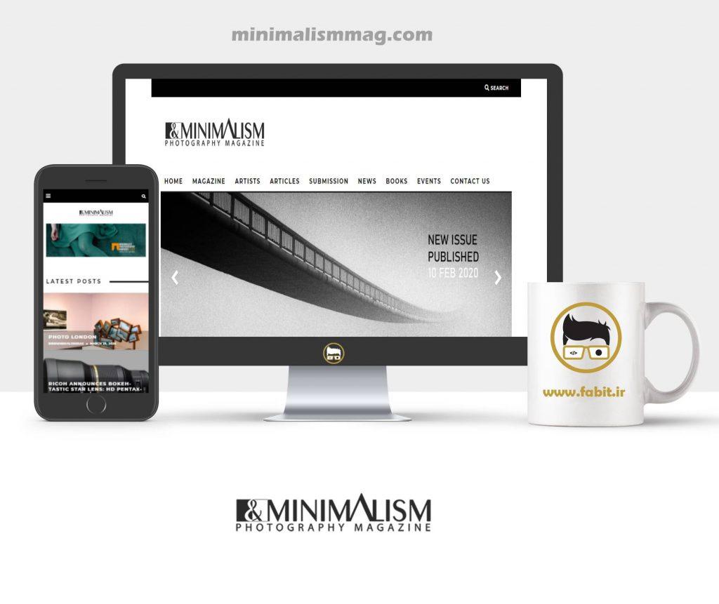 طراحی وبسایت مینیمالیسم
