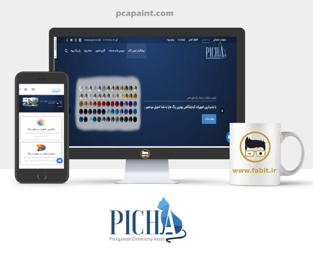 طراحی وبسایت شرکت پیچا